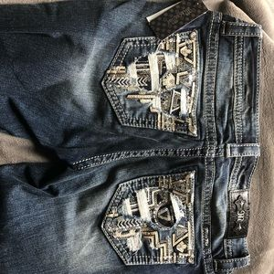 28 Long Brand New Miss Me Bootcut Jeans